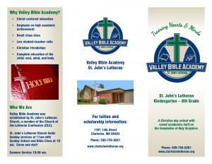 Valley Bible Academy Brochure