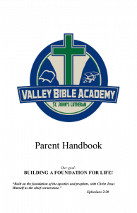 VBA Parent Handbook 2015