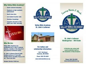 Valley Bible Academy Brochure